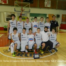 2012 under 15 – Torneo di Cassino 2°classificato 28-29 Dicembre