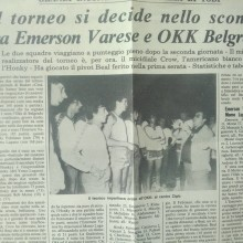 Torneo in piazza 1980